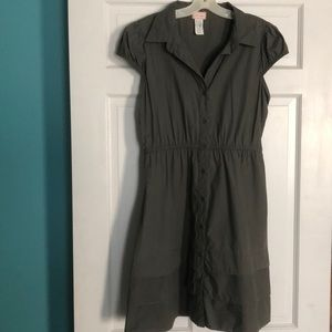 Lord & Taylor Grey cotton dress with side pockets